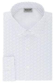 Kenneth Cole Reaction Slim Fit Technicole Printed Dress Shirt