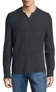 Joe's Jeans Waffle-Knit Cotton Henley