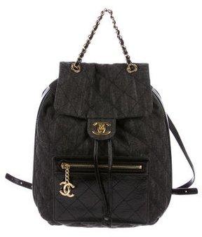 Chanel 2016 Denim and Calfskin Backpack