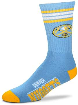 For Bare Feet Adult Denver Nuggets Deuce Striped Crew Socks