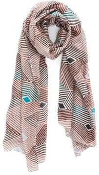 La Fiorentina Women's Geometric Silk Scarf