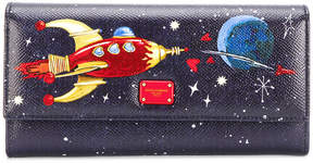 Dolce & Gabbana rocket continental purse - BLUE - STYLE