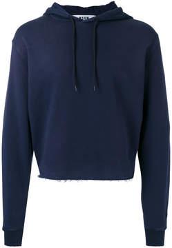 MSGM cropped drawstring hoodie