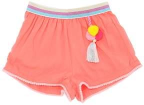 Billieblush Viscose Shorts With Pompom Details