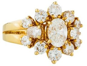 Chaumet 18K Diamond Cluster Cocktail Ring