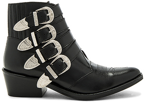 Toga Pulla Buckled Leather Bootie