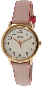 Timex Women's Easy Reader TW2R62800 Gold Leather Analog Quartz Dress Watch