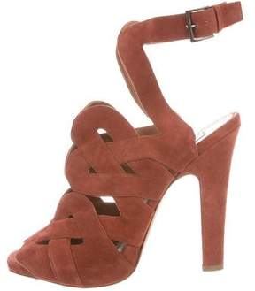 Alaia Caged Suede Sandals