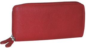 Women's Dopp Roma Double Zip Around Clutch