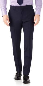 Charles Tyrwhitt Navy Slim Fit Performance Suit Wool Stretch Pants Size W38 L34