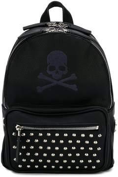 Philipp Plein Junior skull printed backpack