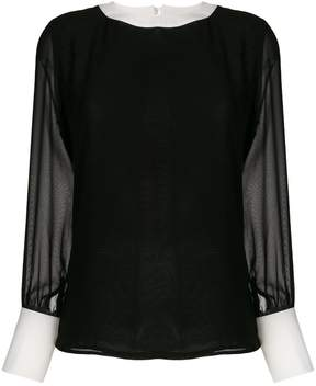 Edward Achour Paris panelled blouse