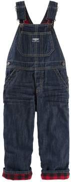 Osh Kosh Baby Boy Flannel-Lined Overalls