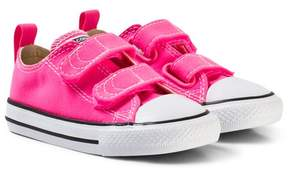 Converse Pink and White Infants Chuck Taylor All Star Trainers