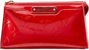 Louis Vuitton Red Monogram Vernis Leather Cosmetic Pouch