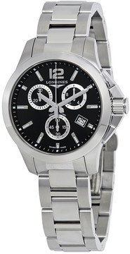 Longines Conquest Chronograph Black Dial Men's Watch