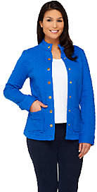 Isaac Mizrahi Live! Mixed Quilted Knit Jacket