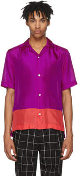 Paul Smith Purple and Red Silk Shirt