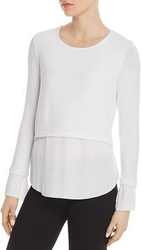 Generation Love Denise Layered-Look Pleated Top