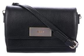DKNY Leather Flap Crossbody Bag