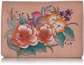 Anuschka Anna by Handpainted Leather Women's Two Fold Wallet On A String