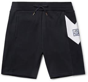 Moncler Gamme Bleu Slim-Fit Chevron-Detailed Cotton-Jersey Shorts