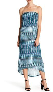 Velvet by Graham & Spencer Ikat Printed Strapless Dress