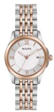 Bulova Rosegold & Stainless Steel Watch