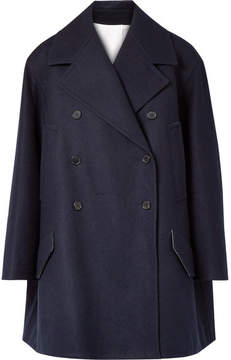 Calvin Klein Double-breasted Wool-felt Coat - Midnight blue