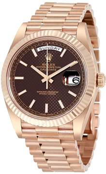 Rolex Day-Date 40 Chocolate Dial 18K Everose Gold President Automatic Men's Watch