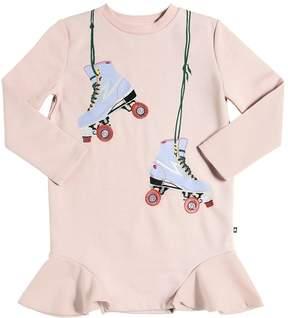 Molo Cotton & Lurex Sweatshirt Dress