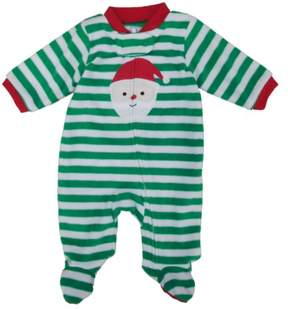 Carter's Infant Boys Santa Claus Striped Fleece Blanket Sleeper Sleep & Play NB
