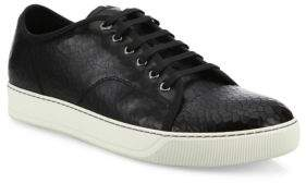 Lanvin Cracked Patent Leather Low-Top Sneakers