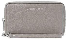 MICHAEL Michael Kors Leather Zip-Around Wristlet