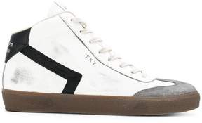 Leather Crown high-top sneakers