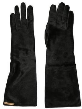 Louis Vuitton Lambskin & Ponyhair Gloves