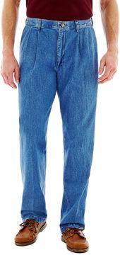 Lee Stain Resist Pleated Denim Pants