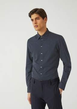 Emporio Armani Cotton Shirt With Micro Pattern