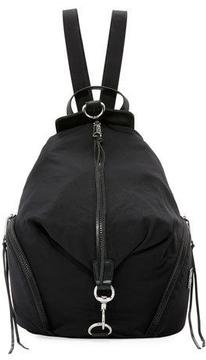 Rebecca Minkoff Washed Nylon Multi-Zip Backpack, Black - BLACK - STYLE