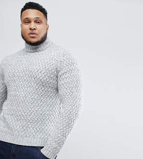 ONLY & SONS PLUS Knitted Sweater With High Neck