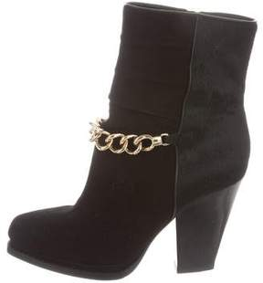 3.1 Phillip Lim Chain-Link Suede Ankle Boots