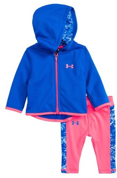Under Armour Infant Girl's Range Camo Zip Up Hoodie & Leggings Set