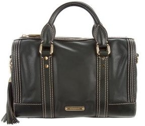Burberry Leather Medium Alchester Bowling Bag - GREEN - STYLE