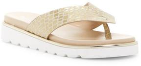 Donald J Pliner Leea Croc Embossed Leather Sandal