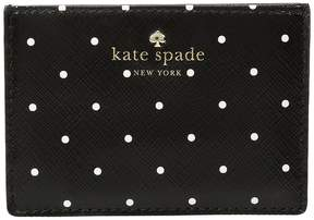 Kate Spade Brooks Drive Card Holder Wallet - BLACK/CREAM - STYLE