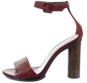 Sonia Rykiel Leather Ankle Strap Sandals