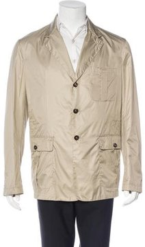 Luciano Barbera Three-Button Satin Jacket