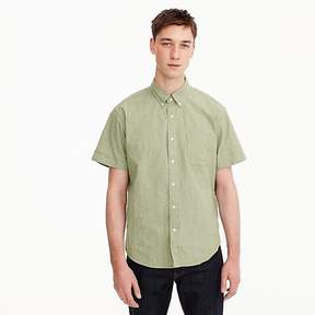 J.Crew Stretch short-sleeve shirt in green chambray