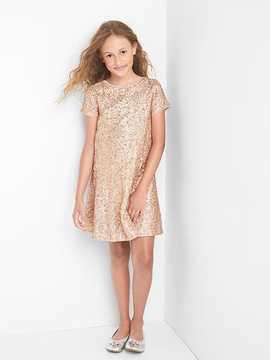 Gap Rose sequin dress