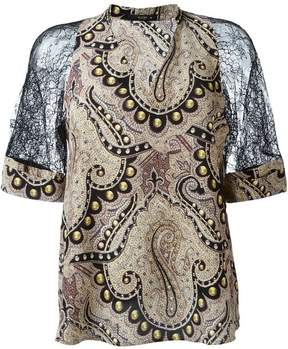 Etro lace sleeve blouse